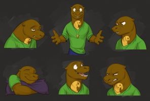 Commission: Mitch's Expression Sheet by Temiree