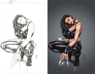 X-23 Sexy Pin-Up Claws by pixeltease
