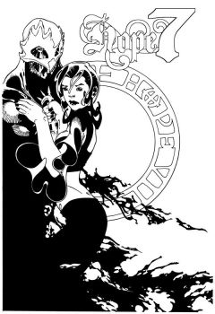 Hope 7 - Issue 3 cover ink by hope7