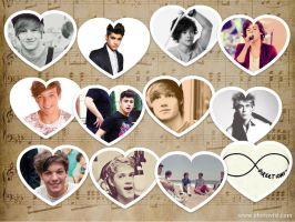 One Direction Hearts Wallpaper by iluvlouis