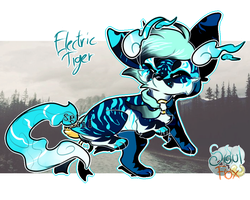 (closed) Electric Tiger SoulFox Adoptable by SetSaiI