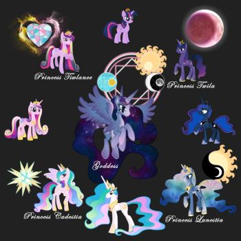 Fusion Princesses MLP by RireDeCire