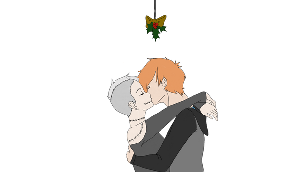 Christmas Kiss (collab) by randomosityFJ