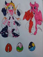 Valentine Orcadragons and eggs! by arteest76