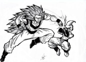Goku-vs-MajinBoo by greatpunch10