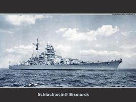 German Battleship Bismarck by achmedthedeadteroris