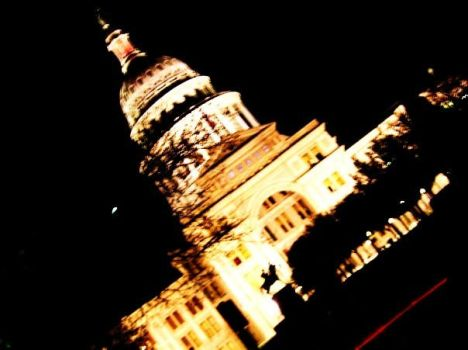 texas state capitol at night by chita21