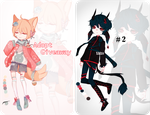 Adopt giveaway and an auction adopt!!! (OPEN!!!) by Xhlxo