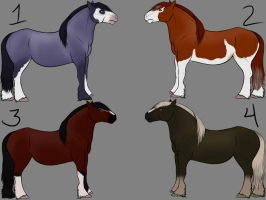 Draft Horse Adoptables - CLOSED by Serenade-The-Wolf