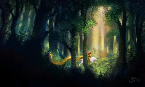 Deep in the Forest by maril1