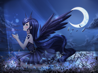 Princess Luna by oDaefnYo