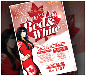 Canada Day Party Flyer by RomacMedia