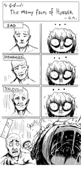 My Girlfriend The many faces of Hunger by NotsoSavageMic