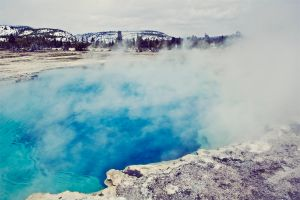Saphire Pool Yellowstone by lepersabstain