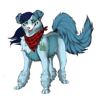 Mad Munchkin Husky form by RavenMidnight22