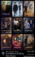 SPN - Sam and Dean Promo (Mobile Wallpapers) by lilyanjudyth
