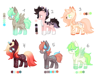Pony Adopts (3/6) OPEN by Cathe-Cat