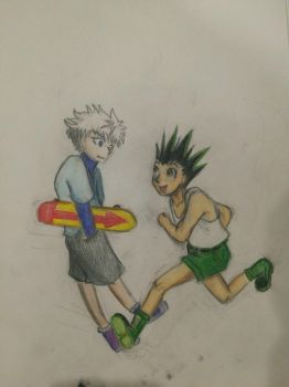 gon and killua by chexie101