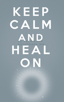 Keep Calm and Heal On Disc Priest by poisiongirl
