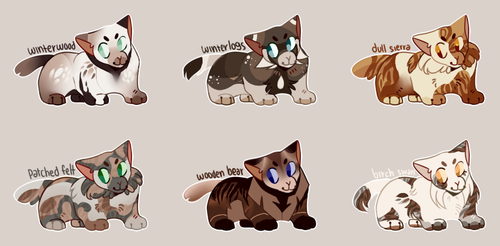 cheeb kitties flatsales || 2/6 open by AMARYLLIES