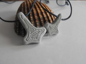 Thor's Hammer Fimo clay pendent by ev21