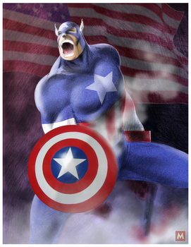 Captain America by gregmcevoy