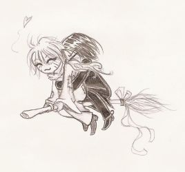 Flying together by Severus-x-Remus-Club