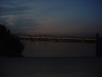 Sunset at Danube Bridge by Chron1