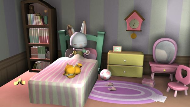 Bunny Room by staticwind