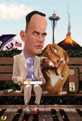 Forrest and Hooch by markdraws