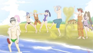 Beach day by CaiSamaX