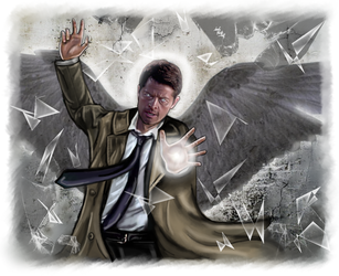 Castiel - force of light by LadyMintLeaf