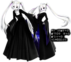 [MMD] Gaster!miku model download by darkmedolie