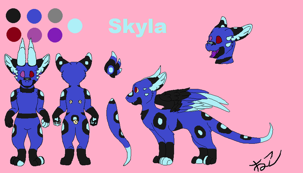 Skyla the Angel Dragon by NightShadow112