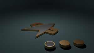 Starfleet Combadge and Rank by SpiderTrekfan616