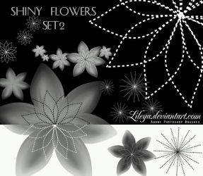 Shiny Flowers - set 2 by Lileya