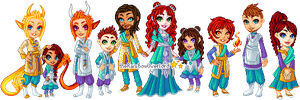 Hakim-Kaleiah Family Portrait by theRainbowOverlord
