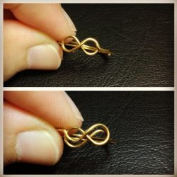 Double/Single Infinity Wire Ring/Knuckle Ring by jesslynlcl