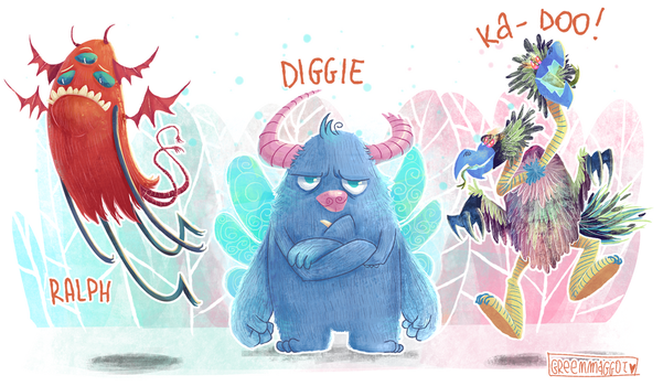 Let's draw: monsters by greenmaggot