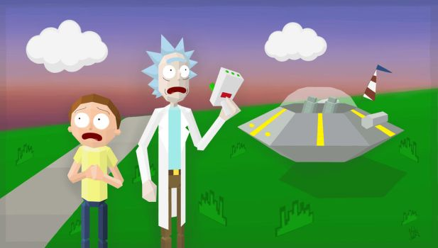 Rick and Morty contest: The Third Dimension! by Kalyandra