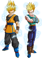 Goken and Nach (Super Saiyan 2) V1 by MAD-54