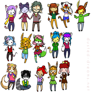 can you name them all? by suzanami