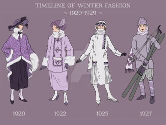 DETAIL: Winter Fashion Timeline 1920-1929 by a-little-bit-lexical