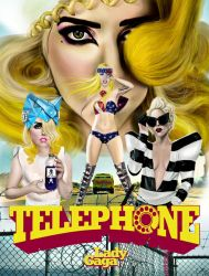 lady gaga telephone poster by carlos0003