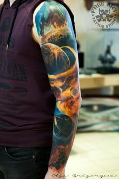 Space sleeve by Olggah