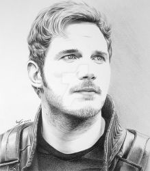 Chris Pratt as Starlord by FromPencil2Paper