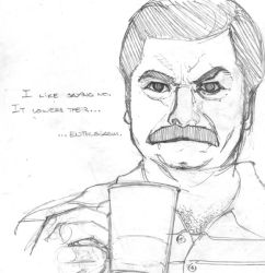 Ron Swanson by MBDavenport