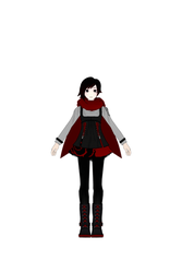 RWBY - Ruby Rose Alt. Outfit Turnaround by jkphantom9