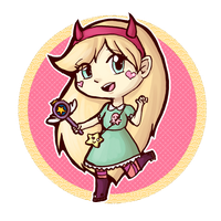 Star Butterfly Chibi by TaylorMalerei