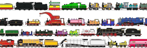 The Steam Engines of Thomas and Friends by masterpeace23